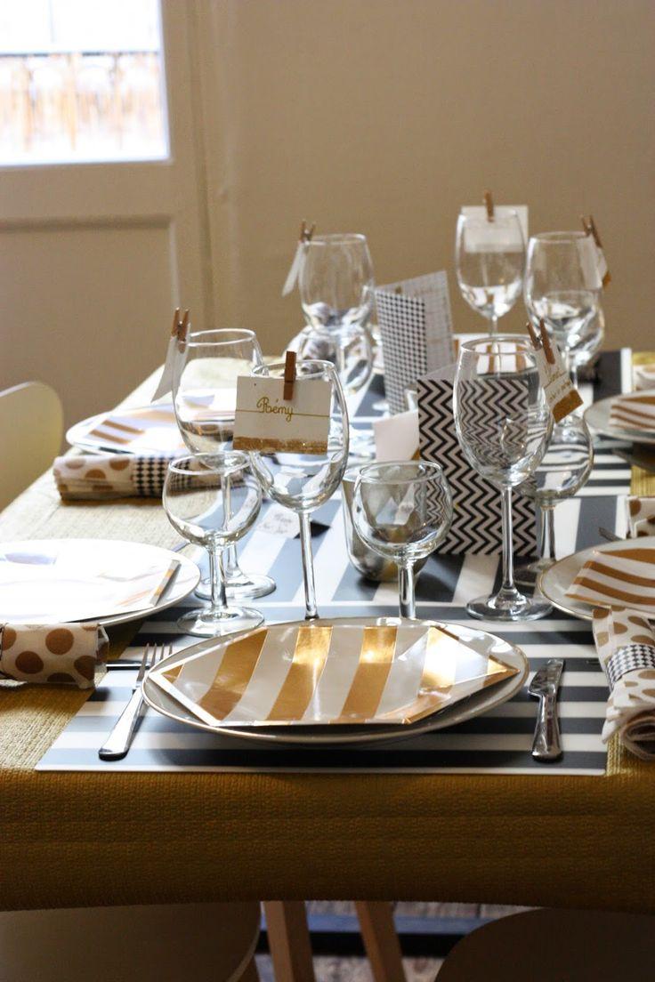 Supérieur Table De Reveillon Nouvel An #12: Déco De Table Du Nouvel An