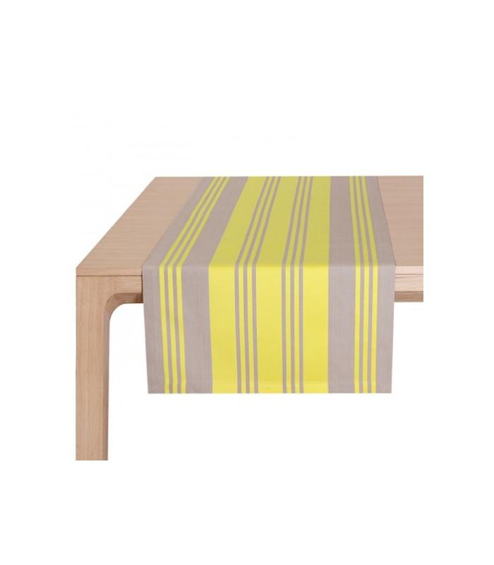 Chemin de table maia jaune jean vier mon home for Chemin de table jaune