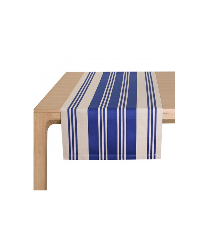 Chemin de table maia bleu jean vier mon home for Chemin de table bleu