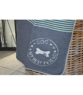 """Tapis pour chien """"best friend"""" gris et vert"""