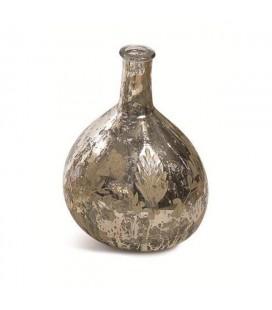 Petit vase Latika Leaf en verre mercurisé