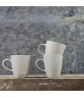 Mug en céramique Biviri - crême mat et brillant