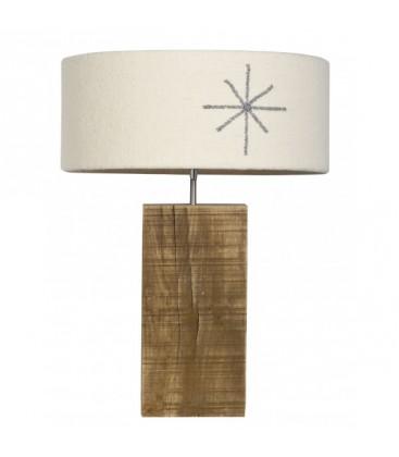 "Lampe à poser ""Grand-chêne"" flocon"