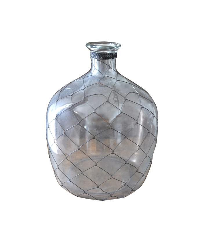 Bouteille d co en verre grillag e mon home site de d coration - Petite bouteille en verre ikea ...