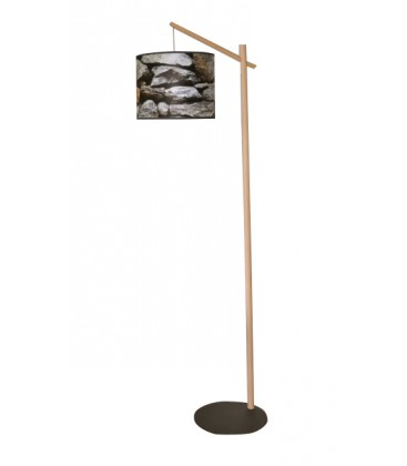 lampadaire bois et imprim pierre mon home site de d coration. Black Bedroom Furniture Sets. Home Design Ideas