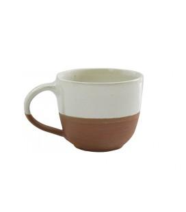 Mug Mali en céramique - crème mat et brillant 8x9,5cm