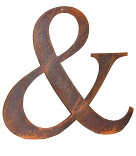 Esperluette en métal rouillé