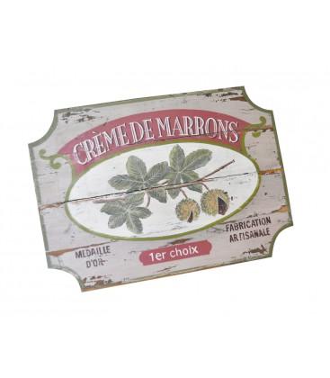 """Cadre en bois ancien, motif """"crème de marrons"""""""