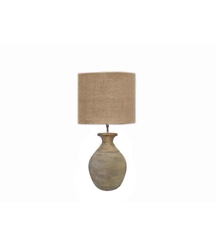 lampe poser neeko en terre cuite nkuku avec abat jour. Black Bedroom Furniture Sets. Home Design Ideas