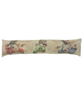 "Coussin ""Scooter dogs"" long"