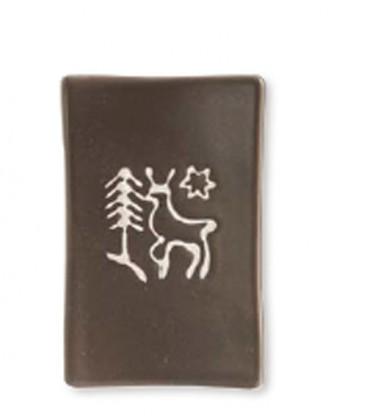 "Porte savon ""Brame"" chocolat mat"