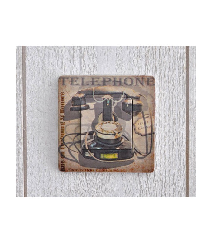 interrupteur d cor t l phone vintage mon home site de. Black Bedroom Furniture Sets. Home Design Ideas