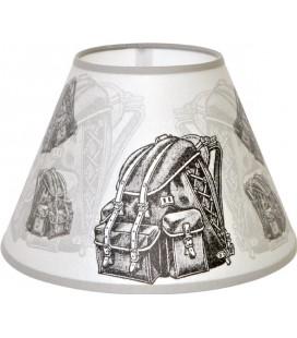 """Lampe """"Bergerie marbre"""" abat-jour """"Sac Vintage"""""""