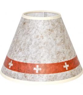 """Lampe """"Bergerie"""" marbre  abat-jour """"Croix Suisse"""""""