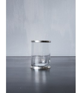 Gobelet en verre lisse et métal