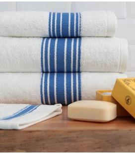 """Serviette de bain """"Grand Hôtel"""" bleuet - Jean-Vier"""