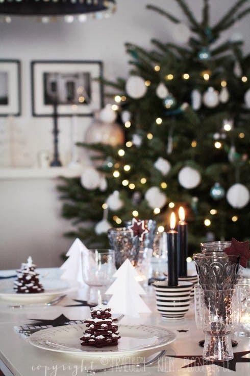 13 id es pour faire une d coration de table de f te blog for Decoration table noir et blanc