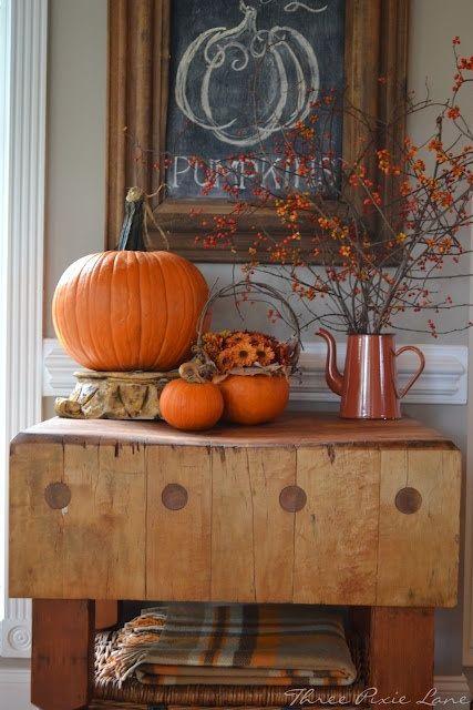 Décoration d'intérieure d'Halloween ou d'Automne par Three Pixie Lane