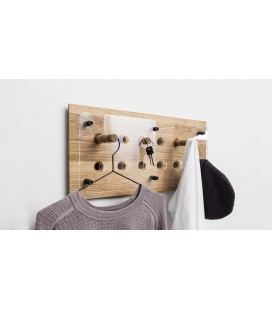Patères Moodboard 2x6 en chêne massif
