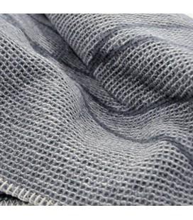 """plaid """"Lido"""" gris piqué motif lignes David Fussenegger"""