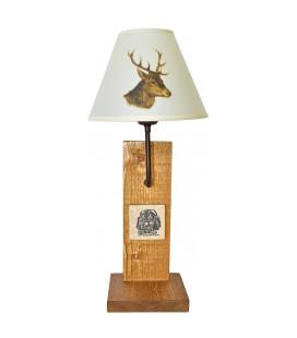 "Lampe ""Bergerie marbre"" abat-jour ""Cerf"""