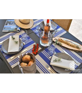 Set de table enduit Maia bleu - Jean Vier