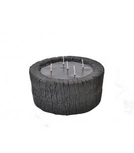 Photophore bois brulé - bougie 17 cm
