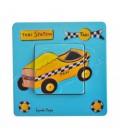 """Interrupteur décoré """"taxi jaune"""""""
