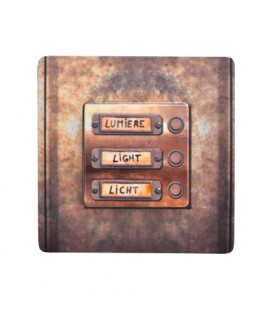 """Interrupteur décoré """"boutons vintage métal"""""""