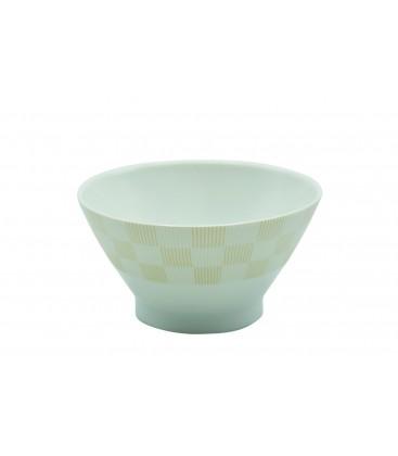 Bol en fine porcelaine japonaise motif jaunes