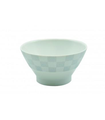 Bol en fine porcelaine japonaise motif gris