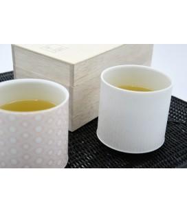 Set de 2 gobelets à thé porcelaine japonaise larges