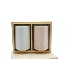 Set de 2 gobelets à thé porcelaine japonaise