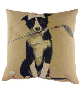 "Coussin ""Dog golfeur"""