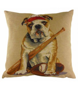 "Coussin ""Baseball dog"""