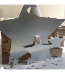 Etoile métal galvanisé