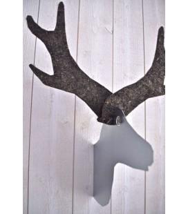 Tête de renne murale - métal