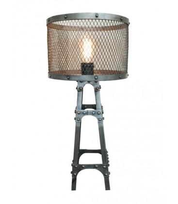 """Petite lampe """"Baltard"""" métal grillagé"""