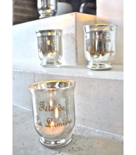 """Lumignon en verre mercurisé """"fête de la lumière"""""""