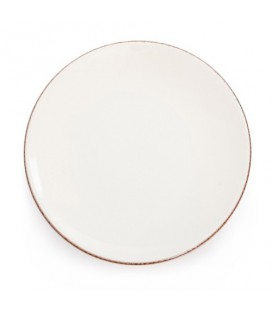 """Assiette plate """"Chantaco"""" écru - Jean Vier"""
